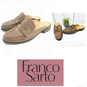 Franco Sarto | Brown Barlow Mules Loafers Shoes